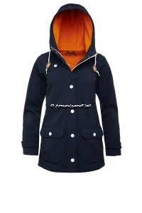 Derbe Peninsula Softshell navy/orange