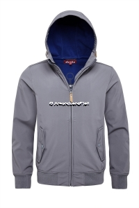 Derbe Softshelljacke Helgoland grey shade / lapis