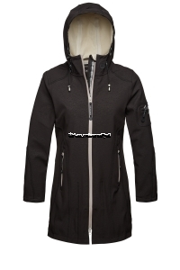 ILSE JACOBSEN Rain 07 B Softshell Raincoat Black Sand