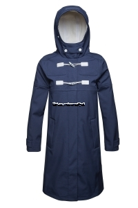 ILSE JACOBSEN Rain 56 Long Softshell Raincoat Dark Indigo