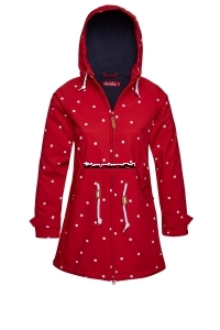 Derbe Island Friese Softshell Dots red/navy