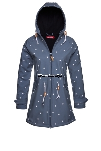 Derbe Island Friese Softshell Dots storm / black