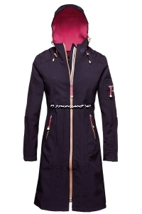 ILSE JACOBSEN Rain 06 B Softshell Raincoat Black Raspberry