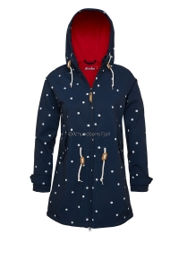 Derbe Island Friese Softshell Dots navy/red