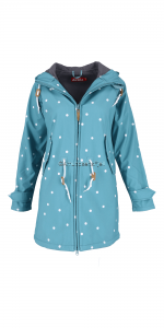 Derbe Island Friese Softshell Dots mineral / grey