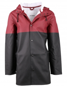 Stutterheim Stockholm Blocked burgundy/black